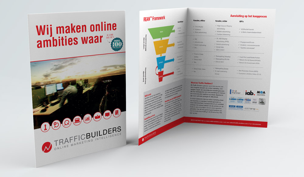 A4 beursfolder voor Traffic Builders
