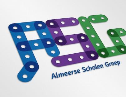 het logo van de Almeerse Scholen Groep