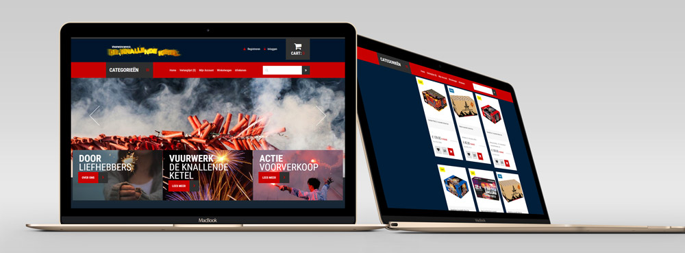 nieuw website de knallende ketel vuurwerk online tweede versie