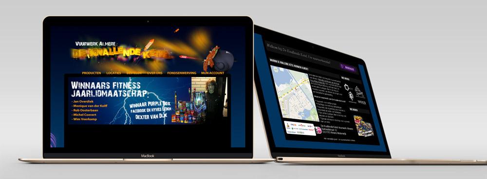 website de knallende ketel eerste online versie