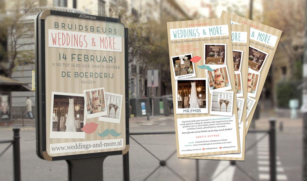 Poster en flyer voor Weddings and more