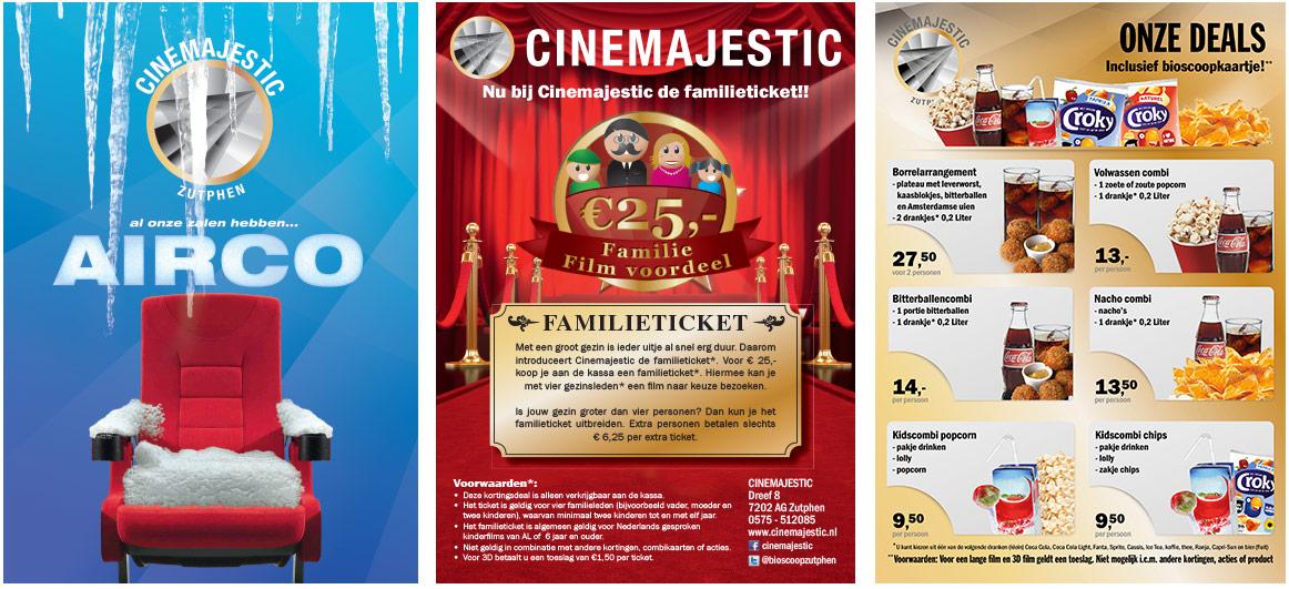 Ontwerp flyers Cinemajestic Zutphen 2